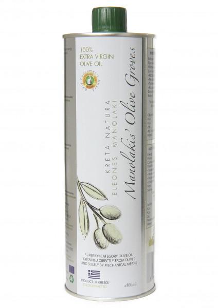 Olivenöl extra nativ 500-ml Flasche-Stahl